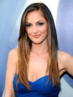 This is how I wish my hair would turn out (like Minka Kelly's) when I straighten it. Actually if I could look like her that would be great!