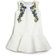 Dolce Gabbana Toddler's Little Girl's Lavender Jacquard Dress ❤ liked on Polyvore featuring dresses, kids, baby and children