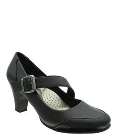 9b3219daed6c19 Black Diagonal Softs Mary Jane Pump by Pierre Dumas  zulily  zulilyfinds  Pierre Dumas