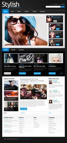 Stylish Model's WordPress Themes by Mercury