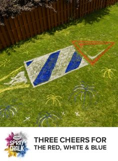 Find outdoor Spray Chalk at a store near you. Testors Spray Chalk goes where sidewalk chalk can't and is available in 4 different chalk colors. Cute Kids Crafts, Easy Diy Crafts, 4th Of July Party, Fourth Of July, Summer Parties, Summer Fun, Spray Chalk, Blue Birthday, Sidewalk Chalk