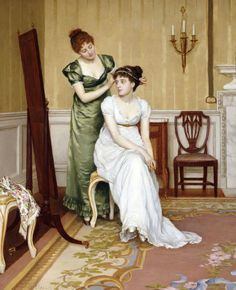 The Finishing Touch by Charles Haigh-Wood (1856-1927)