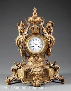 Clocks for sale. Shop vintage & mid-century modern clocks and timepieces. See the world's online clock auctions. Tabletop Clocks, Mantel Clocks, Clock Decor, Desk Clock, Antique Desk, Antique Clocks, Handmade Lampshades, Clocks For Sale, Bronze Sculpture