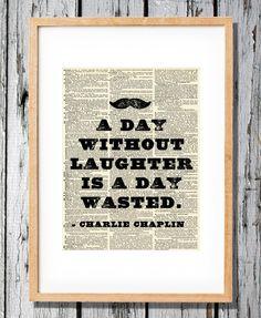Charlie Chaplin  Art Print on Vintage Antique by Walkslee on Etsy, $7.99