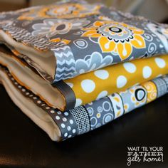 Homemade burp cloths - how to