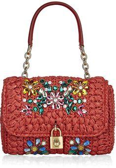 DOLCE & GABBANA Small Miss Dolce Mediterranean Crystal Bag