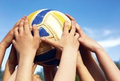 Volleyball is a relatively low-cost athletic option that helps children improve agility, hand-eye coordination and general sports conditioning. In addition, it exposes children to the challenge and entertainment of team sports. Volleyball Practice, Volleyball Games, Coaching Volleyball, Soccer Games, Pe Games, Volleyball Workouts, Volleyball Quotes, Soccer Drills For Kids, Soccer Skills