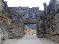 Micene, porta dei leoni, XIV secolo a.C. Ingresso principale all'Acropoli