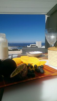 Breakfast with a view. Camps Bay, Western Cape, South Africa.