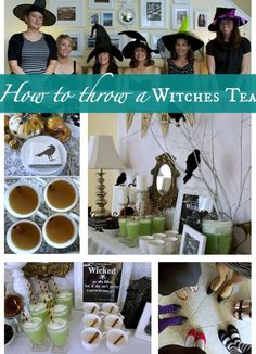 Are You Planning To Host Your Own Witches Tea Check Out These Party Ideas