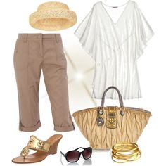 """""""Sunny Day"""" by fiftynotfrumpy on Polyvore - not the purse"""