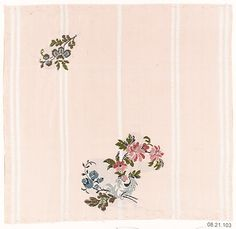 Textile sample Unknown Designer Date: ca. 1900 Medium: Silk Accession Number: 08.21.103