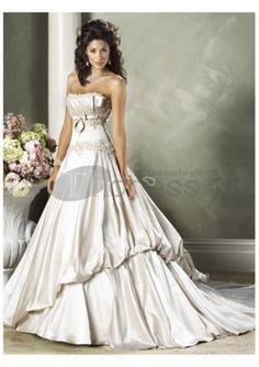 Suntuosos suntuosos vestidos de novia strapless 2012 formales