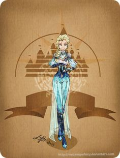 Disney steampunk: Elsa by MecaniqueFairy on deviantART Disney Pixar, Walt Disney, Animation Disney, Disney Fan Art, Disney And Dreamworks, Disney Style, Disney Magic, Disney Frozen, Disney Movies
