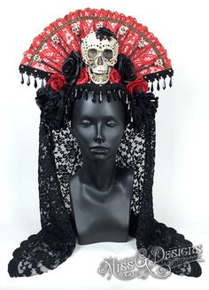 Day of the Dead Headdress by MissGDesignsShop on Etsy