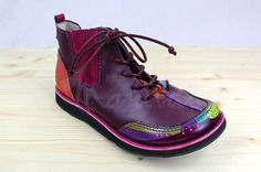 IDA Unique Ankle Boots Genuine Leather violet by ManitasGallery