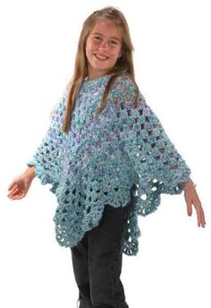 Maggie's Crochet · Mini Martha Ponchos Set Free Pattern ~ LINK CORRECT and pattern is FREE when I checked on 04/12/2015.
