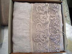 Beautiful lace panneled linen