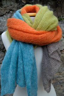 ....bunt geht es auch im grauen November weiter....;o) ....fertig bekommen habe ich einen langen Schal, den ich schon im letzten Jahr be...