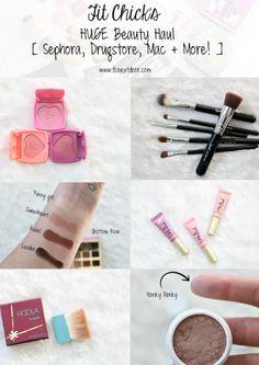 Our HUGE Beauty Haul: Sephora, Drugstore, Mac + More! #beautyhaul2016 #fitchick #fcnextdoor #sephora #makeup #products #colourpop #tarte #kylielipkit #toofaced #sigma