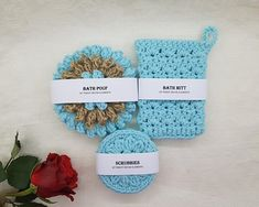 Check out this item in my Etsy shop https://www.etsy.com/listing/575449828/spa-set-light-blue-sponge-set-bath-pouf