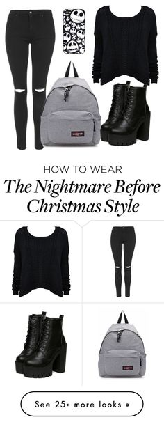 """""""Untitled #851"""" by maria-canas on Polyvore featuring Topshop, Alice + Olivia and Eastpak"""