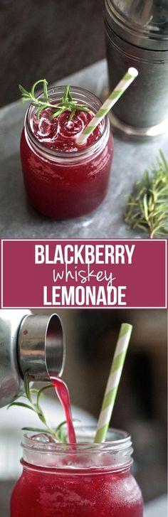 Blackberry Whiskey Lemonade  Seems like a bit of work but sounds delicious! {wineglasswriter.com/}