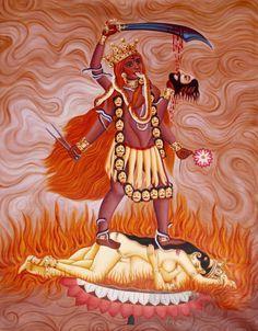 """Manifestation of Goddess Kali as Tara """" Indian Goddess, Durga Goddess, Divine Mother, Mother Goddess, Hindu Deities, Hinduism, Kali Mata, Pagan Gods, Hindu Art"""