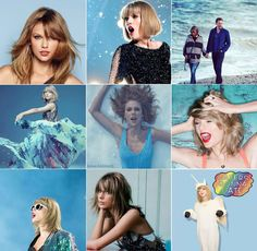 Taylor Swift blue blue collage
