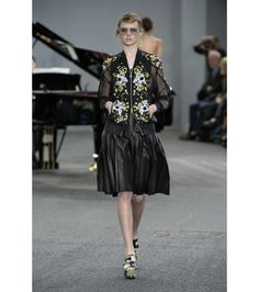 #erdem - dani embroidered silk-blend organza bomber jacket