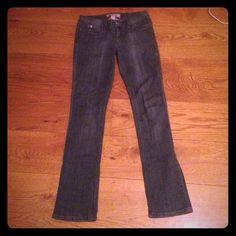 Dark Grey Jeans Dark grey, straight legged jeans. Candie's Jeans Straight Leg