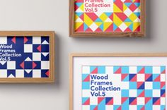 This is a series of three psd wood frame mockup with different sizes and wood patterns. Easily add your own designs...