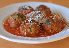 Turkey sausage makes these turkey meatballs super tender and adds great flavor. The meatballs are browned under the broiler instead of in a frying pan.