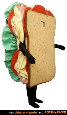 disfraces originales sndwich