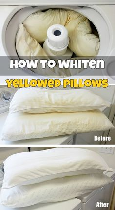 How to whiten yellowed pillows - CleaningTutorials.com
