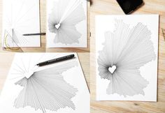 This will be a drawing project that anyone with a little patience can get, who claims to be unable to draw. Perfect as a decoration, a … - New Deko Sites Diy Presents, Diy Gifts, Ideas Hogar, Drawing Projects, Diy Arts And Crafts, Rope Crafts, Art Plastique, String Art, Gifts For Dad