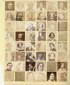 Collage of 48 Portraits  Unknown (British) Date: 1854–57