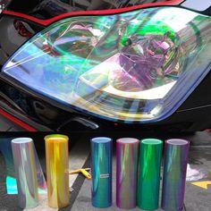 120*30 cm Brillant Caméléon Auto Car Styling phares Feux Arrière Translucide film lumières Se Sont Changement Couleur De Voiture film Autocollants
