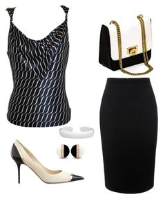 """Untitled #518"" by style75 ❤ liked on Polyvore featuring Giorgio Armani, Jimmy Choo and Alexander McQueen"