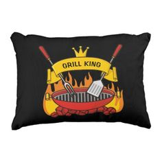 Grill King Accent Pillow - home gifts ideas decor special unique custom individual customized individualized