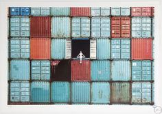 JR - The Ballerina in Containers, Le Havre, France 14 colour lithograph Limited Edition of 180 size: x 29 in Social Animals - - December 2014 Le Havre France, Street Art, Paris Opera Ballet, Jr Art, Collage Background, City Art, French Artists, Banksy, Planet Earth
