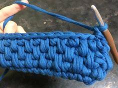 ズパゲッティで超簡単な模様編み・細編み応用編② - YouTube