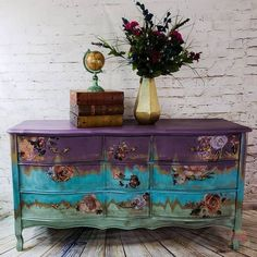 The True Story About Gypsy Painted Furniture That the Experts Don't Want You to Know - The Number One Question You Must Ask for Gypsy Painted Furniture When you locate a paint you prefer - Italian Bedroom Furniture, Classic Furniture, Shabby Chic Furniture, Vintage Furniture, Furniture Dolly, Rustic Furniture, Funky Painted Furniture, Paint Furniture, Repurposed Furniture