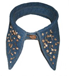 Detachable denim collar Bows, Denim, Handmade, Accessories, Fashion, Hand Made, Moda, Arches, Fashion Styles