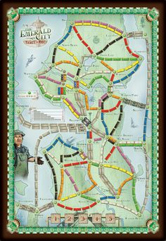 Print 'n Play Games & Redesigns BoardGameGeek Ticket to Ride- Emerald City