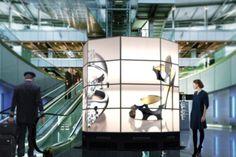 LED video wall Digital Kiosk, Digital Retail, Digital Signage Solutions, Museum Exhibition Design, Led Video Wall, Cafe Branding, Column Design, Space Museum, Signage Design