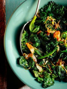 Garlic Greens #FNMag #myplate #veggies