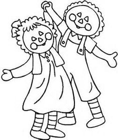 rag dolls printable coloring pages - photo#17