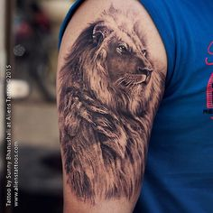 #lion #tattoo by @sunnybhanushali at #alienstattoo #mumbai… | Flickr