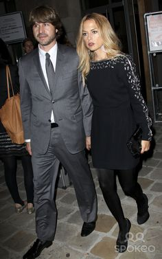 Rachel Zoe and her husband Rodger Berman at the Alexander McQueen fashion show at the Espace Curial in Paris during Paris fashion week adn the unveiling of the ready-to-wear spring-summer 2012 collections.